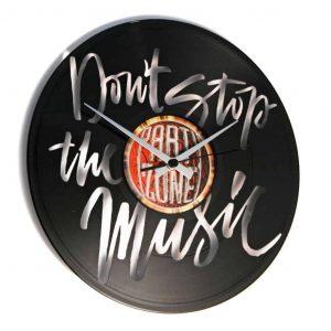 DON'T STOP THE MUSIC vinyl record clock