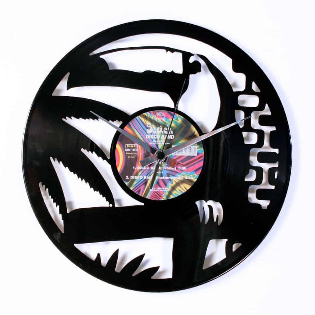 brazil vinyl record clock