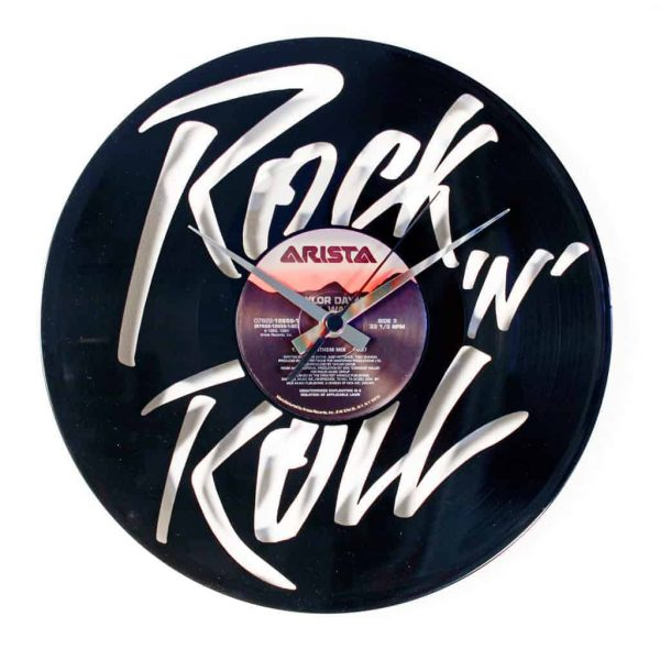 ROCK'N'ROLL vinyl record clock