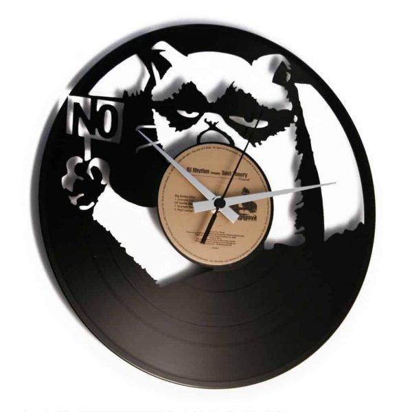 grumpy cat vinyl record clock