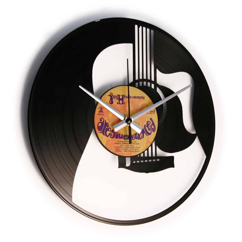 THE GUITAR vinyl record clock
