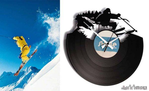 SKI vinyl record clock