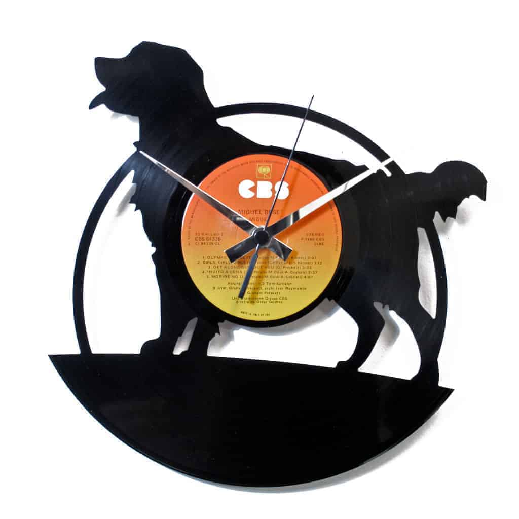 DOG VINYL RECORD CLOCK