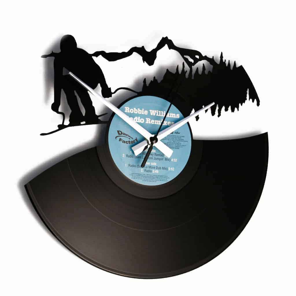 DRINK BEER vinyl record clock