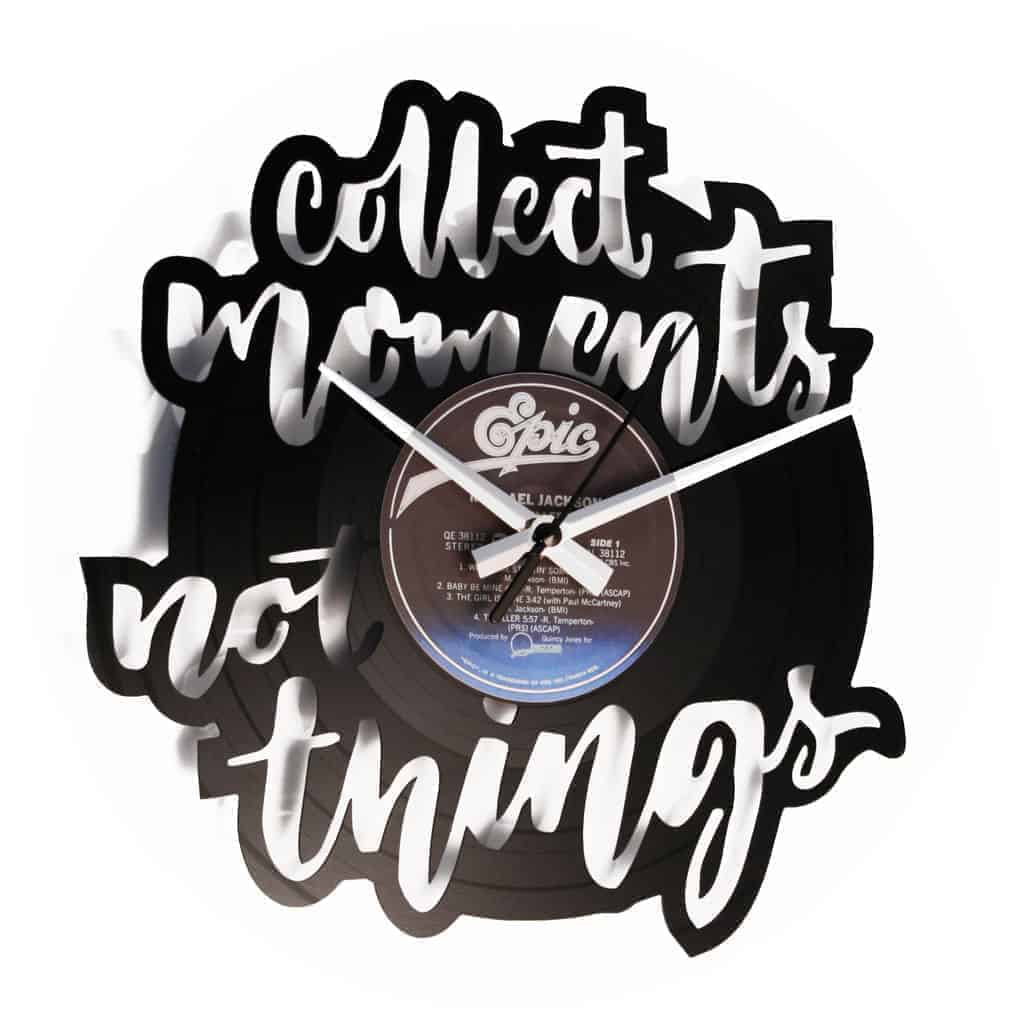 COLLECT MOMENTS vinyl record clock
