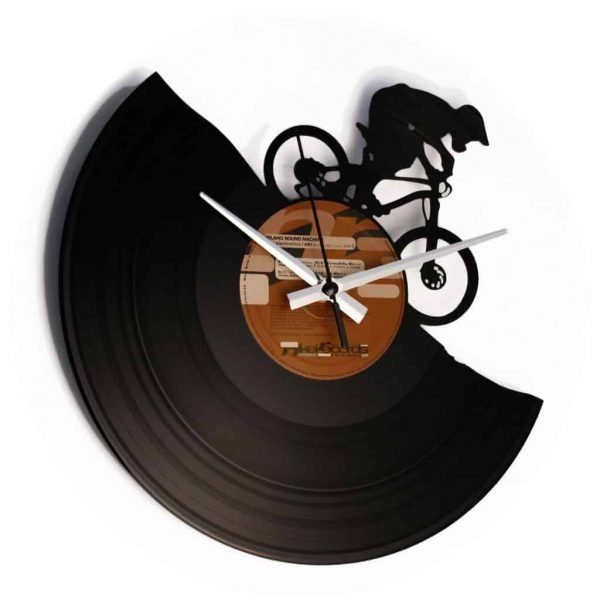 MOUNTAIN BIKE VINYL RECORD CLOCK