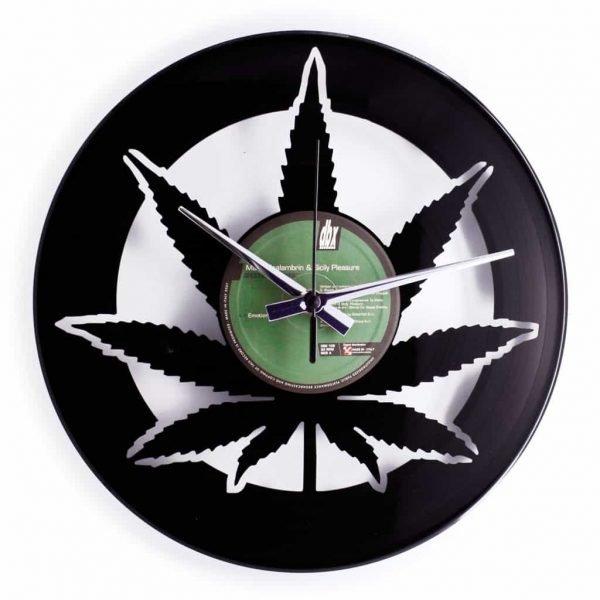 WEED VINYL RECORD CLOCK