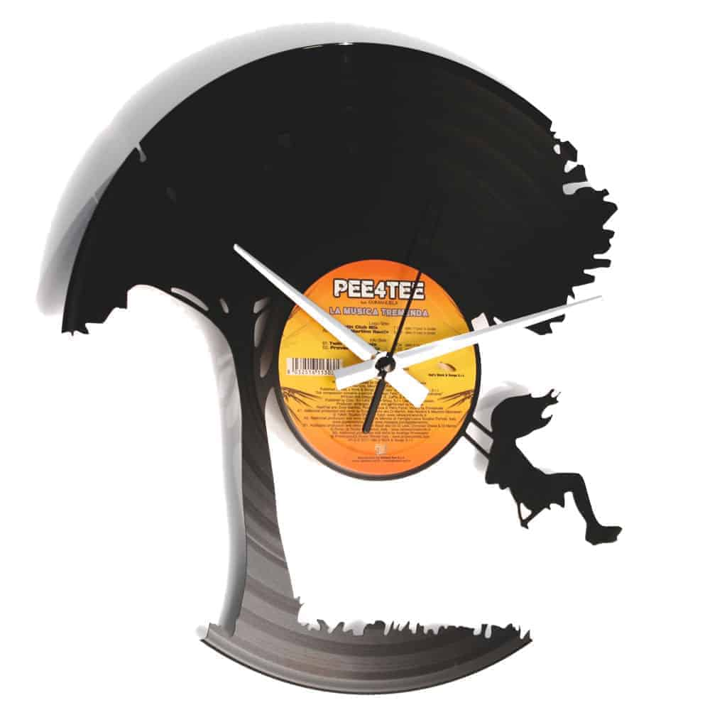 I DON'T WANNA GROW UP vinyl record clock