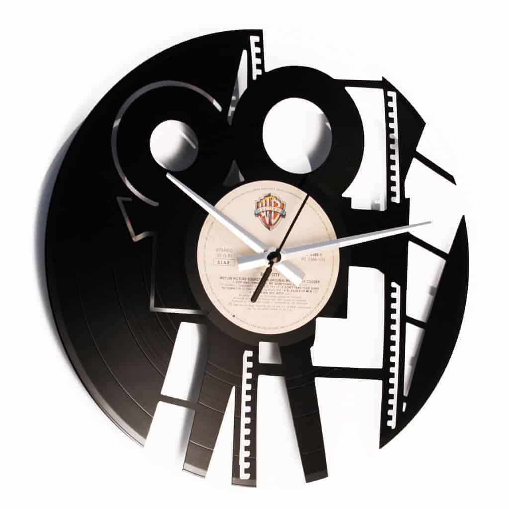 film director vinyl record clock