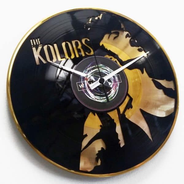 Custom DOUBLE DECKER vinyl record clock
