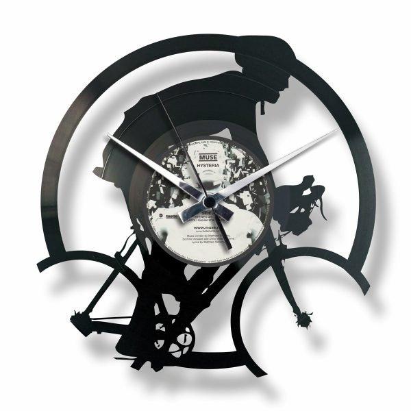 BICYCLE RACE vinyl record clock