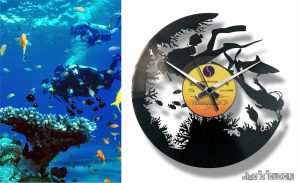 SPORTS vinyl record clocks