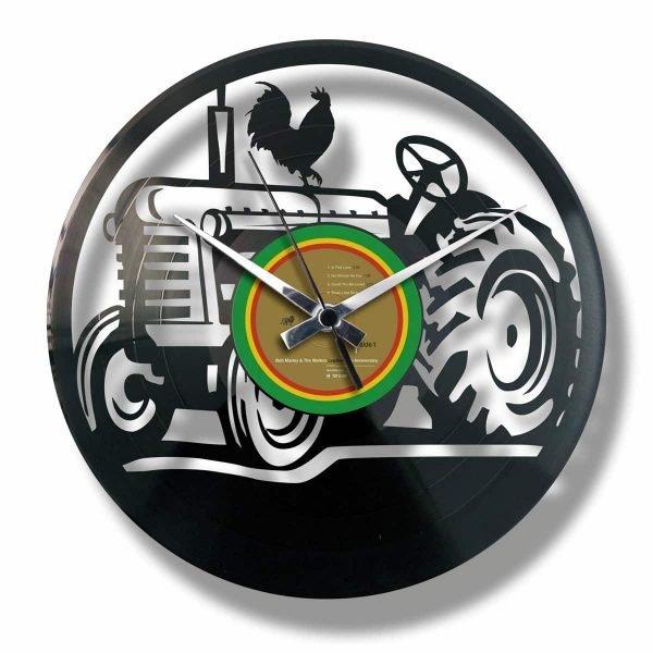 THE FARM vinyl record clock