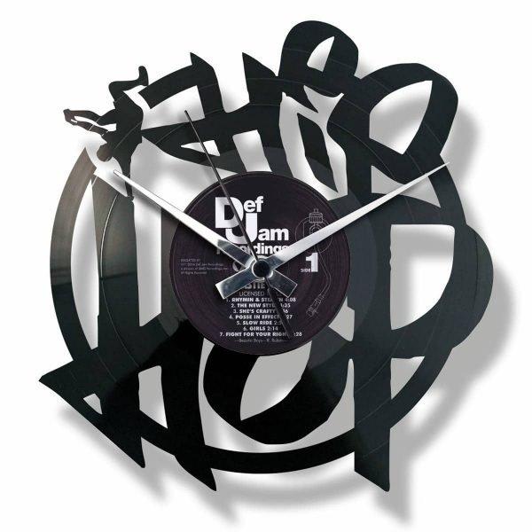 HIP HOP vinyl record clock