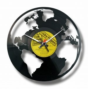 THE EARTH vinyl record clock