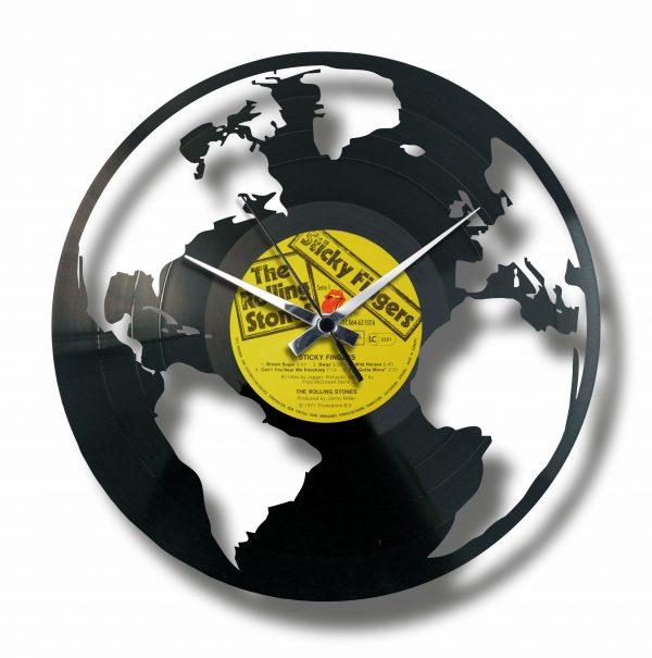 THE EARTH vinyl record clock