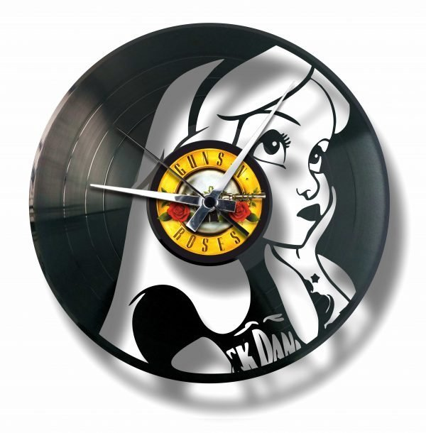 ALICE vinyl record clock