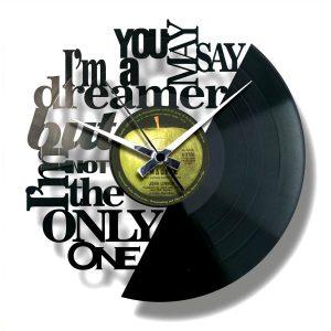 IMAGINE vinyl record clock
