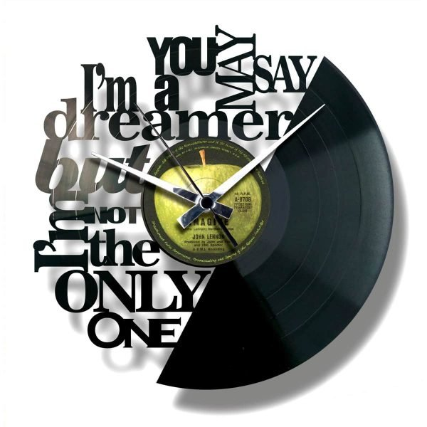 IMAGINE vinyl record clock