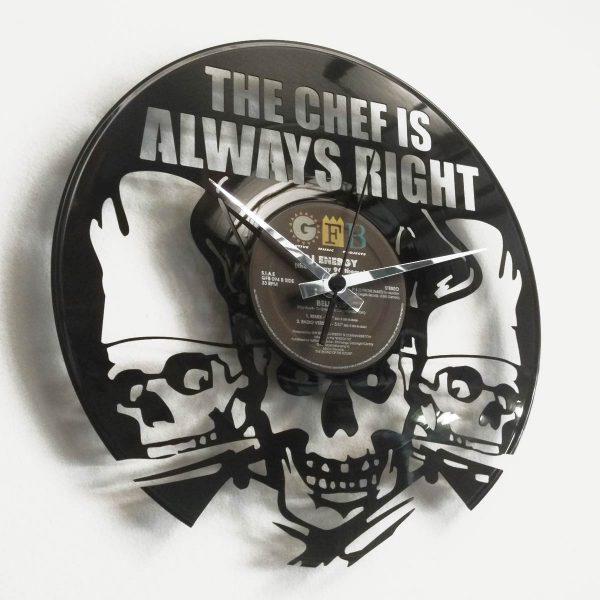 Custom vinyl record clock