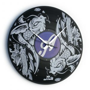 Vinyl record clock with CUSTOM PRINT
