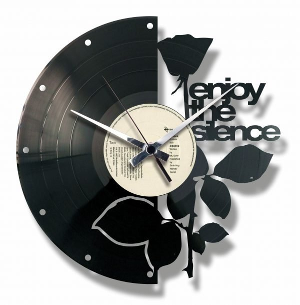 ENJOY THE SILENCE vinyl record clock