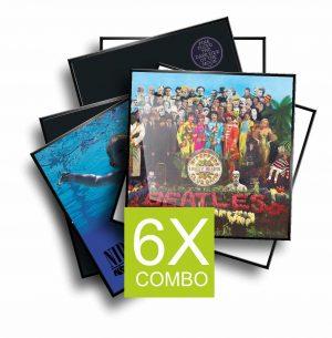 6x ALUMINIUM FRAME FOR ALBUM COVERS
