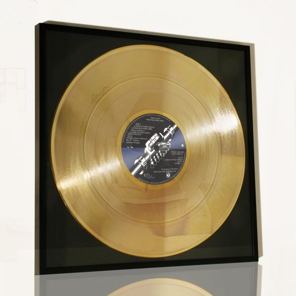 PINK FLOYD – WISH YOU WERE HERE: FRAMED GOLD PLATED VINYL RECORD