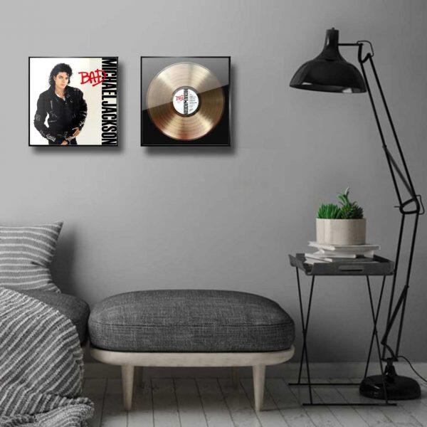 Michael Jackson Bad Golden Vinyl Record