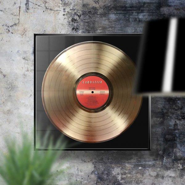 Vasco Rossi Bollicine Golden Vinyl Record