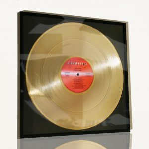 VASCO ROSSI – BOLLICINE: FRAMED GOLD PLATED VINYL RECORD