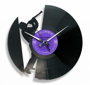 clarinet vinyl record clock