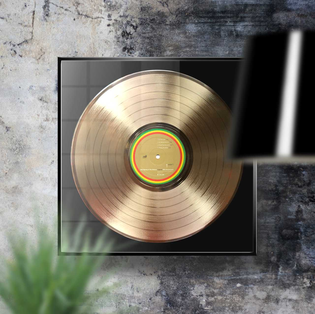 Bob Marley Legend Framed Gold Plated Vinyl Record