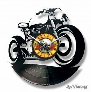 motor bike vinyl clock